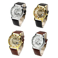 New Fashion Engraving Watches Imitation of mechanical watch Gift Unisex = 1956875204