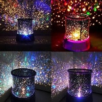 Crystal Romatic Gift Cosmos Star Sky Master Projector Starry Night Light Lamp (Color: Random) = 1945896068