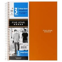 FiveStar 150ct 3-Subject College Ruled Notebook ... : Target