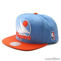 Mitchell and Ness Official NBA San Diego Clippers Snapback | Hip Hop Apparel | Urban Style Wear