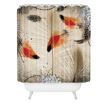 Iveta Abolina Feather Dance Shower Curtain