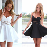 Sexy Women Summer Spaghetti Strap Party Evening Cocktail Casual Short Mini Dress