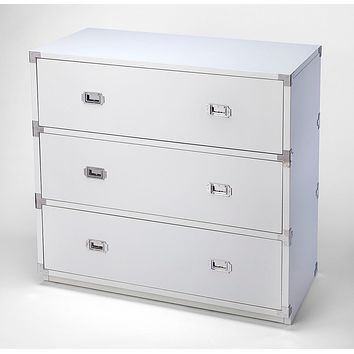 Butler Anew White 3 Drawer Campaign Chest