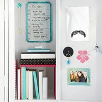 Square Mirror With Mustache Decal