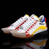 Dsquared2 Men's New Suede Leather Casual Sneakers Shoes