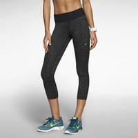 The Nike Epic Run Printed Women's Cropped Running Tights.