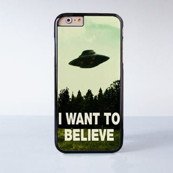 I Want To Believe The X Files Movie Plastic Case Cover for Apple iPhone 6 6 Plus 4 4s 5 5s 5c