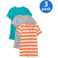 Walmart: Faded Glory Maternity Essential V-Neck Tee, 3-Pack