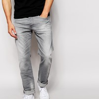 Diesel Jeans Buster 839N Regular Tapered Fit Washed Gray