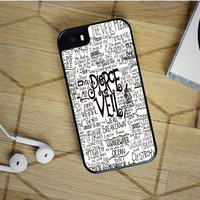 pierce the veil song lyric iPhone 5(S) iPhone 5C iPhone 6 Samsung Galaxy S5 Samsung Galaxy S6 Samsung Galaxy S6 Edge Case, iPod 4 5 case