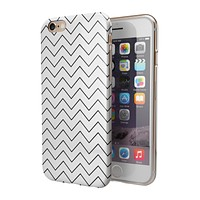 Thin Slate Black Zig Zags 2-Piece Hybrid INK-Fuzed Case for the iPhone 6/6s or 6/6s Plus