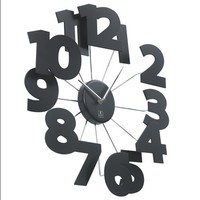 Cupecoy Design 3 D Wooden Wall Clock with Meal Spikes and Aluminium Hands. Quartz Movement for Precision. Size: 18 inches