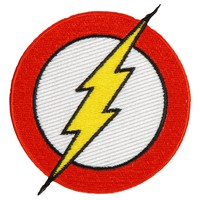 Flash Men's Bolt Embroidered Patch Mutli
