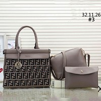 Fendi 2019 new tide brand women's wild shopping bag handbag Messenger bag three-piece #3