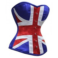 MY-161 - Union Jack Steel Boned Corset