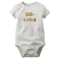 "Carter's Girls Ivory ""little sunshine"" Bodysuit"