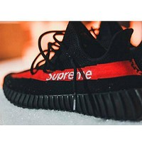 ADIDAS YEEZY 350 V2 SUPREME Sport Casual Shoes Sneakers Red Supreme