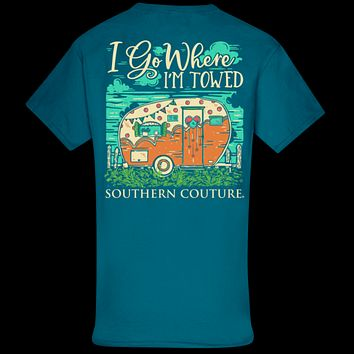 Southern Couture Classic Where I'm Towed Camper T-Shirt