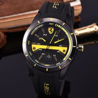 Ferrari Women Men Fashion Quartz Watches Wrist Watch