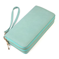 Double Zipper Wallet With Strap