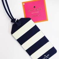 Kate Spade New York Luggage Tag - Navy Rugby Stripe