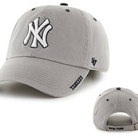 New York Yankees Gray Ice Clean Up Adjustable Hat