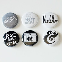 Just Be You Flair Badges Button Set
