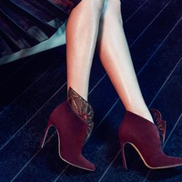 Atalia Embellished Suede Ankle Boots by Sergio Rossi - $1590