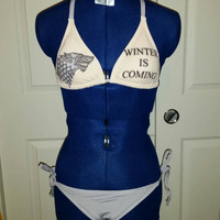 Game of Thrones ANY House bikini.  Stark, Tyrell, Targaryen, Lannister, Nights Watch, Greyjoy, Tully