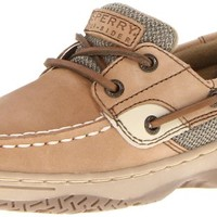 Sperry Top-Sider Bluefish Boat Shoe (Toddler/Little Kid/Big Kid),Linen/Oat,5.5 M US Big Kid