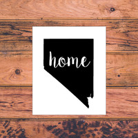 Nevada Home Decal   Nevada State Decal   Homestate Decals   Love Sticker   Love Decal    Car Decal   Car Stickers   120