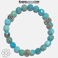 TRANQUILITY | Faceted Bali Turquoise | Flower Bracelet