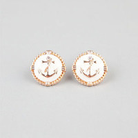 FULL TILT Anchor Stud Earrings 217421621 | Earrings | Tillys.com