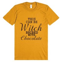 This Witch Can Be Bribed With Chocolate/orange-T-Shirt