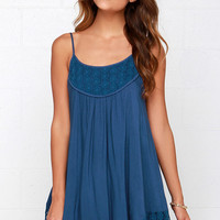 Time of Our Lives Navy Blue Lace Dress