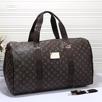 LV Louis Vuitton Monogram Canvas Large Capacity Handbag Travel Bag