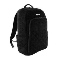 Vera Bradley Laptop Backpack Classic Black Microfiber