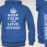 Keep Calm and Love Justin Bieber Hoodie