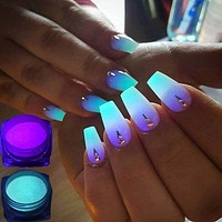 Neon Florescent Glow In The Dark Nail Glitter Powder
