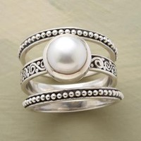 BOUNDARIES PEARL RING SET         -                Stack         -                Rings         -                Jewelry         -                Categories                       | Robert Redford's Sundance Catalog