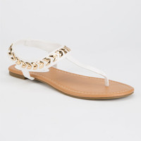 City Classified Cooper Womens Sandals White  In Sizes