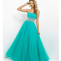 Pink by Blush 2014 Prom Dresses - Pine Strapless Empire Waist Prom Gown