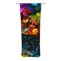 """Claire Day """"Hippie Love Child"""" Decorative Sheer Curtain"""