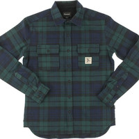 Diamond Caribou Flannel Longsleeve Buttonup Medium Navy