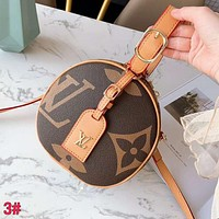 LV Louis Vuitton High Quality Fashionable Women Shopping Bag Leather Circular Crossbody Satchel Shoulder Bag 3#
