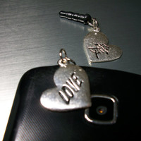 Love Cell Phone Dust Plug Charm