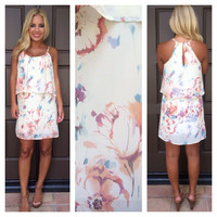 Chamomile Floral Flounce Dress