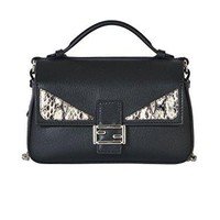 FENDI WOMEN'S 8M03715RRERR BLACK LEATHER HANDBAG