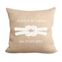 Reef Knot Monogram Pillow