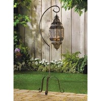 Moroccan Style Tall Hanging Candle Lantern With Stand